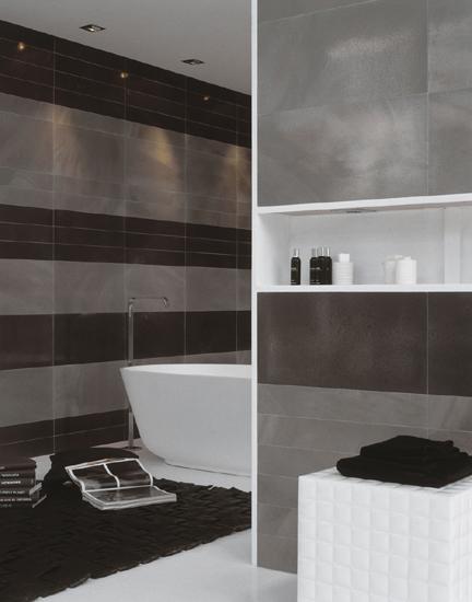 fürdőszoba fekete-szürke