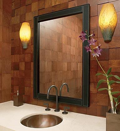 fa burkolat fürdőszobában - Fürdőszoba Titkok