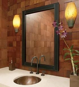 fa burkolat fürdőszobában