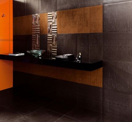 fürdőszoba fekete narancssárga