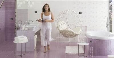 Capri lila fürdőszoba