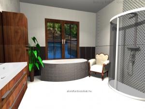 Paradyz Secret Edeno csempe - fürdőszoba látványterv