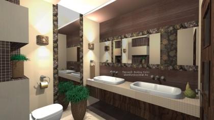 Tubadzin Elegant Flower Csempe  - fürdőszoba látványterv