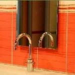vörös fürdőszoba trend